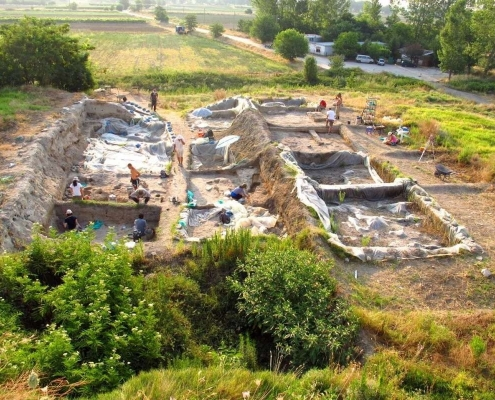 late neolithic Chalcolithic excavation site