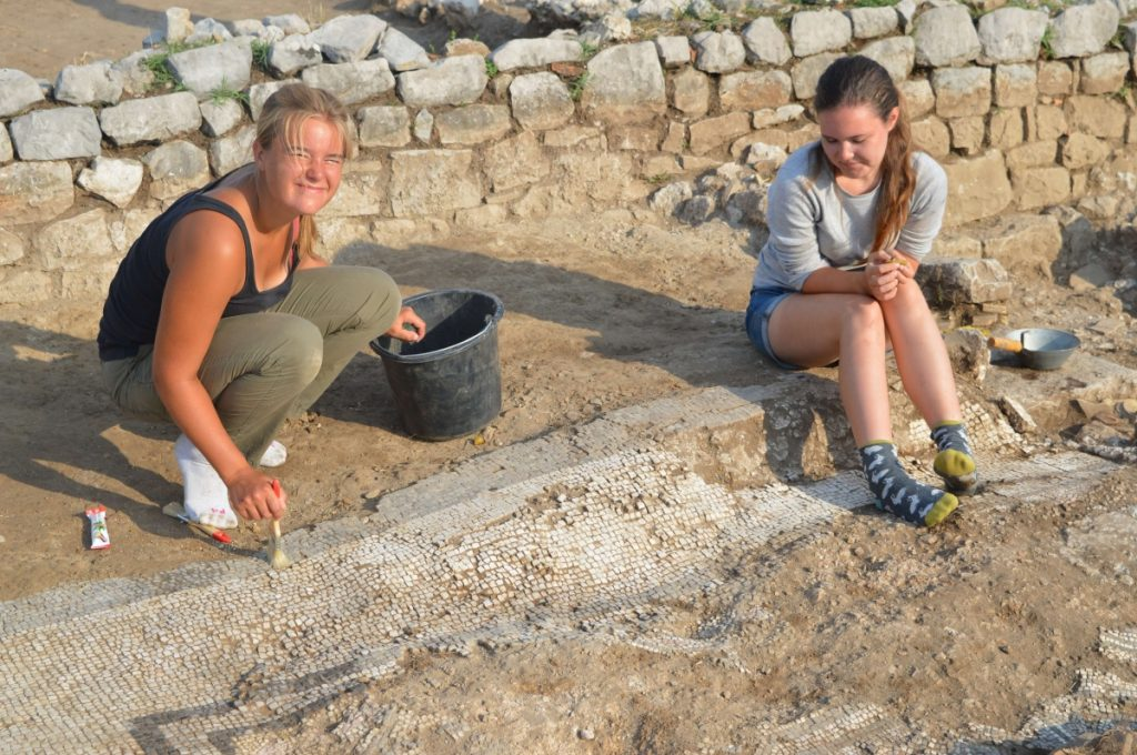 Montenegro excavation project with mosaics