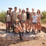 Participants in Bona Mansio archaeological field school