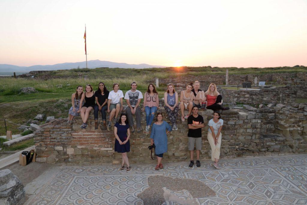 archaeology students in Stobi Macedonia