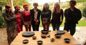 sutdents study conservation of greek pottery