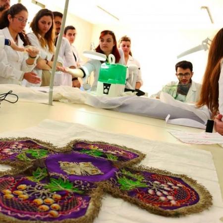 textile heritage preservation lab work