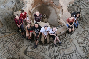 students visiting ancient sites