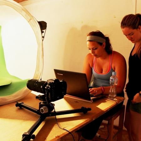 green screen in archaeological documentation