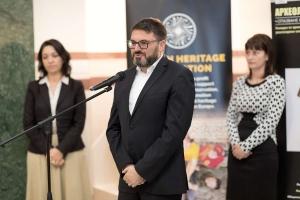 Ivan Vasilev giving a speech