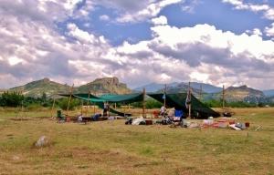 field school archaeology tents