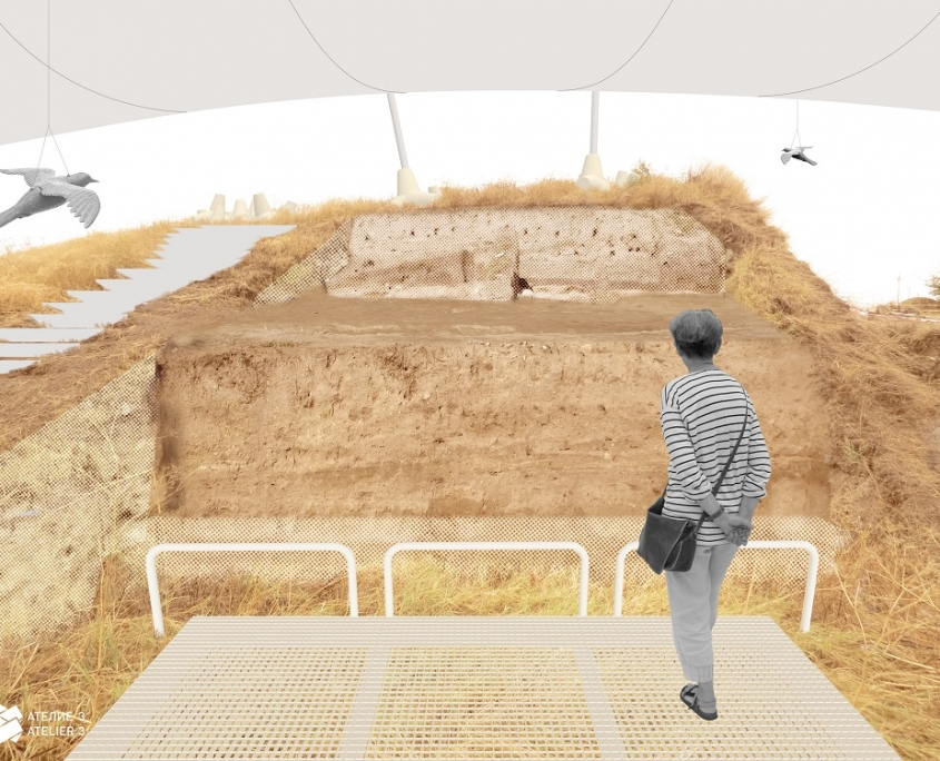 Tell Yunatsite Chalcolithic fortification wall inside protective structure